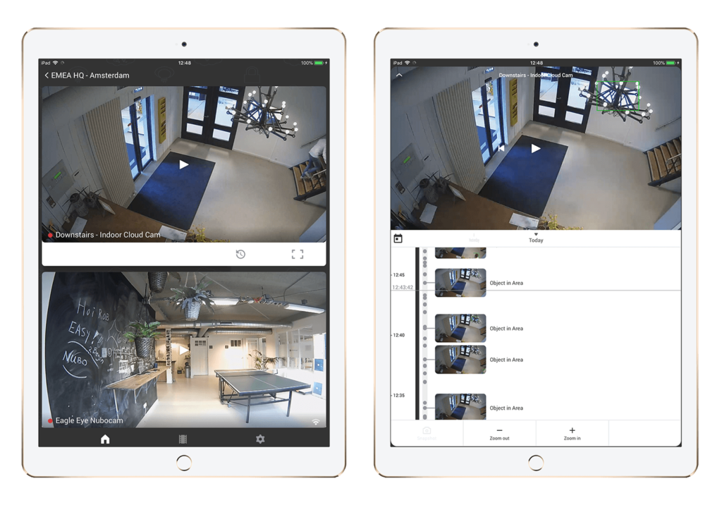 iPad Manage Cameras on Your Device